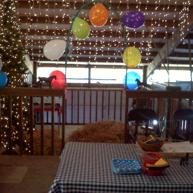 Hayloft all ready for the next party!